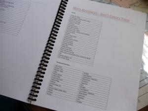 Spiral Planner 2011-2012