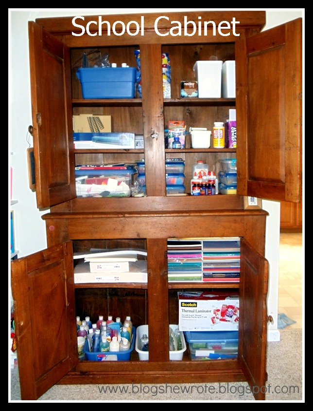 School Cabinet {Supply Central} | Blog, She Wrote