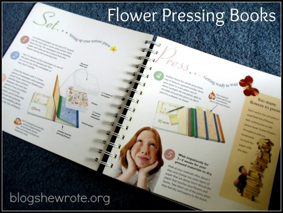 Blog She Wrote: Flower Pressing