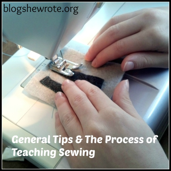 Blog She Wrote: General Tips & The Process of Teaching Sewing in Your Homeschool