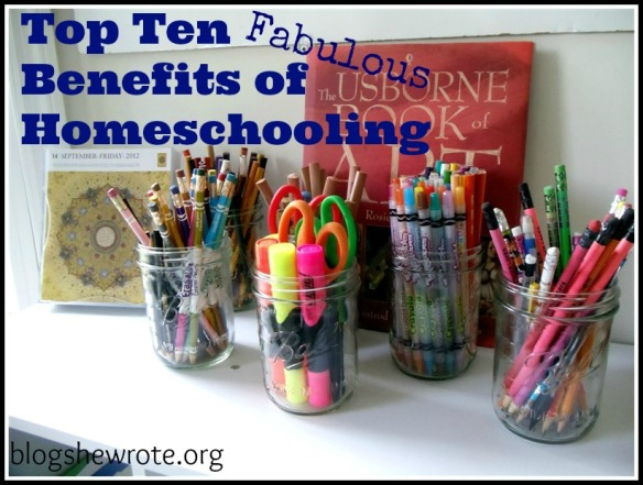 Blog She Wrote: Top Ten Fabulous Benefits of Homeschooling