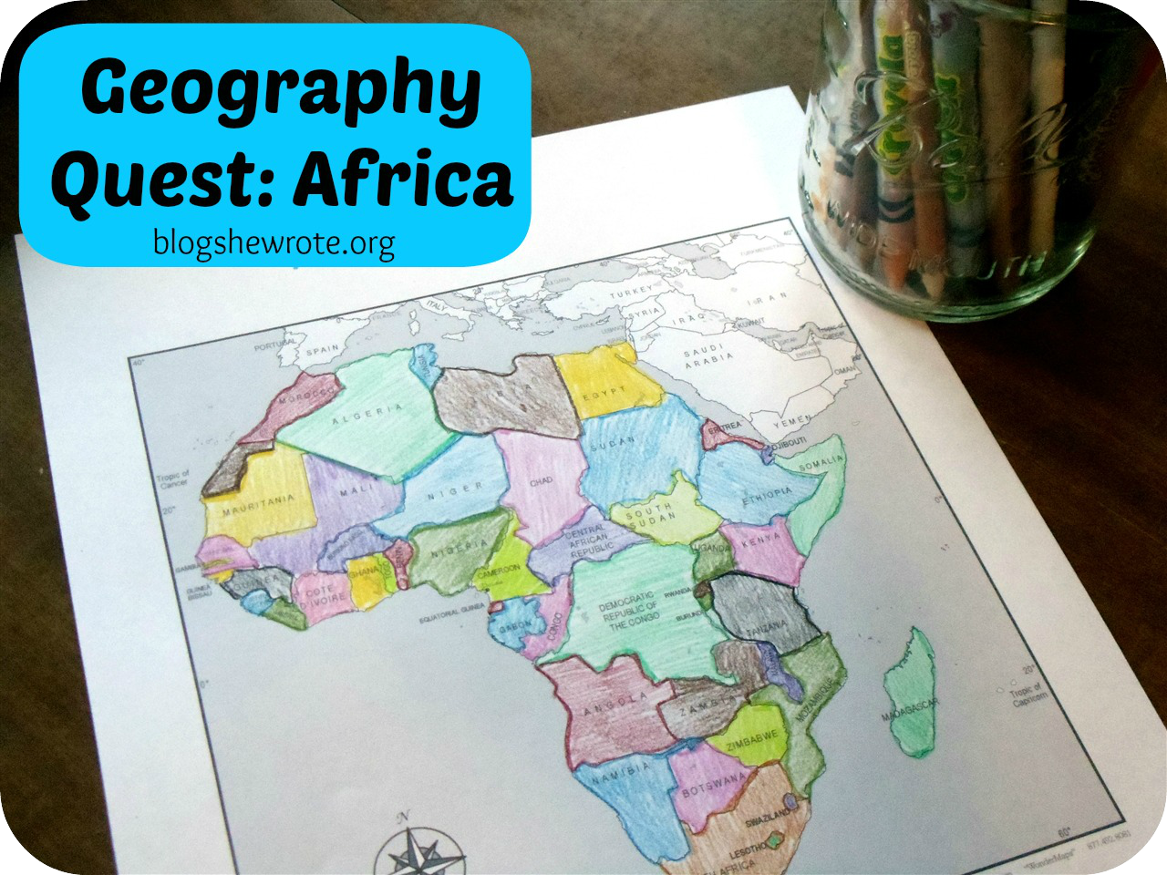 Map Quest Africa Geography Quest: Africa | Blog, She Wrote