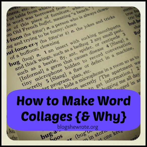 Blog, She Wrote: How to Make a Word Collage