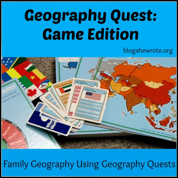Blog, She Wrote: Geography Quests- Game Edition
