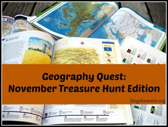 Blog, She Wrote: November Treasure Hunt Edition