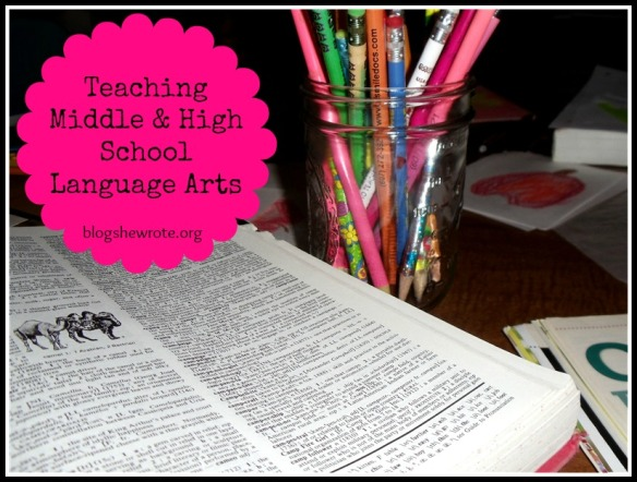 Blog, She Wrote: Teaching Middle & High School Language Arts